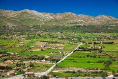 Paesaggio rurale verde al Nord di Maiorca Fotografia Stock