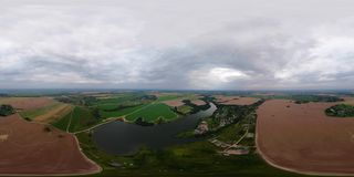 Paesaggio rurale VR360 stock footage