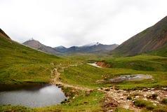 Paesaggio, Russia, il lago Baikal, trekking, viaggio, montagne, ricreazione, foresta, shumack, verde, lago, fiume Fotografia Stock