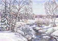 Paesaggio russo di inverno Immagine Stock