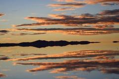 Paesaggio a Salar de Uyuni, Bolivia Fotografia Stock Libera da Diritti