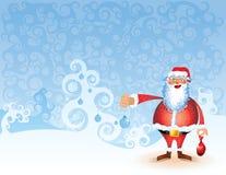 Paesaggio Santa di nuovo anno della priorità bassa dell'albero di Natale Immagini Stock