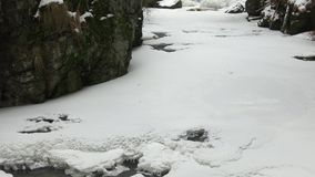 Paesaggio sbalorditivo di inverno video d archivio
