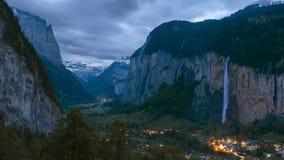 Paesaggio sbalorditivo in svizzero Fotografia Stock Libera da Diritti