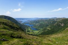 Paesaggio scandinavo Fotografia Stock