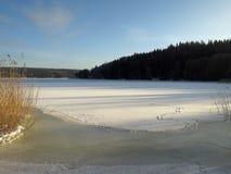 Paesaggio scandinavo di inverno Immagine Stock