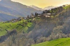 Paesaggio scenico in alpi francesi Immagine Stock Libera da Diritti