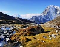 Paesaggio scenico Autumn Himalayas delle montagne fotografie stock