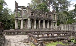 Paesaggio scenico con il tempio antico di Bayon (heritag del mondo dell'Unesco Fotografia Stock
