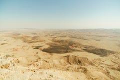 Paesaggio scenico del canyon del deserto di Negev dell'Israele Immagini Stock