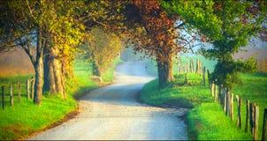 Paesaggio scenico del parco nazionale di Great Smoky Mountains immagine stock