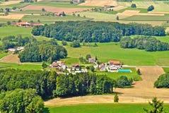 Paesaggio scenico della campagna in Svizzera Fotografia Stock