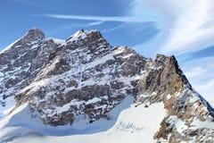Paesaggio scenico della catena montuosa di Jungfrau Fotografie Stock Libere da Diritti