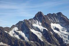 Paesaggio scenico della catena montuosa di Jungfrau Immagine Stock Libera da Diritti
