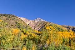 Paesaggio scenico della montagna di Colorado in autunno Fotografia Stock