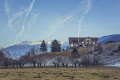 Paesaggio scenico della montagna di inverno Immagine Stock Libera da Diritti