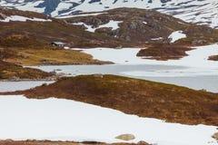 Paesaggio scenico della montagna della Norvegia Fotografia Stock Libera da Diritti
