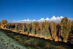 Paesaggio scenico di caduta di Teton Immagini Stock Libere da Diritti