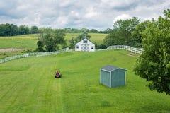Paesaggio scenico di conservazione del terreno coltivabile Fotografia Stock Libera da Diritti