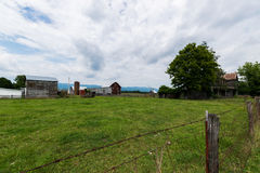 Paesaggio scenico di Elkton, la Virginia intorno al cittadino di Shenandoah fotografie stock libere da diritti