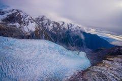 Paesaggio scenico a Franz Josef Glacier Alpi del sud, costa ovest, isola del sud, Nuova Zelanda Immagini Stock Libere da Diritti