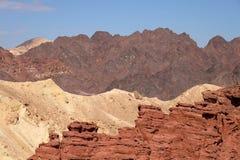 Paesaggio scenico in montagne di Eilat Immagine Stock Libera da Diritti