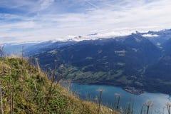 Paesaggio scenico in Svizzera: la bella st gallone di Walensee fotografia stock
