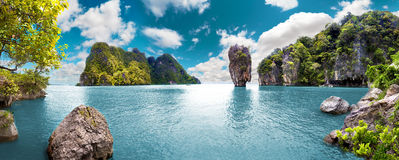 Paesaggio scenico Vista sul mare immagine stock