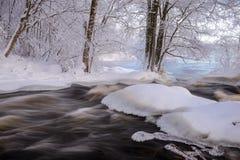 Paesaggio scorrente di inverno Fotografie Stock Libere da Diritti