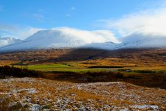 Paesaggio scozzese, Glencoe, Scozia Fotografie Stock Libere da Diritti