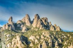 Paesaggio seghettato della montagna, Montserrat, Catalogna Immagine Stock Libera da Diritti