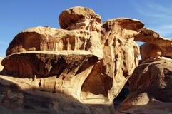 Paesaggio selvaggio di Wadi Rum Jordan Fotografie Stock