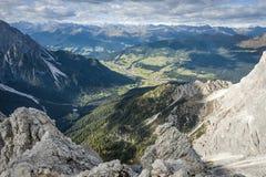 Paesaggio selvaggio Tirolo del sud Fotografie Stock Libere da Diritti