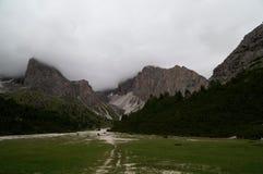 Paesaggio selvaggio nell'area di alta montagna Fotografia Stock