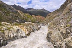 Paesaggio selvaggio nelle alpi austriache Fotografia Stock Libera da Diritti