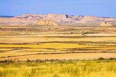 Paesaggio semideserto di Navarra Fotografia Stock Libera da Diritti