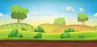 Paesaggio senza cuciture del paese per il gioco di Ui royalty illustrazione gratis