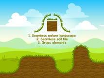 Paesaggio senza cuciture della natura con le mattonelle del suolo Immagine Stock Libera da Diritti