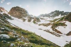 Paesaggio sereno di Rocky Mountains Landscape Travel Immagine Stock Libera da Diritti