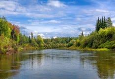 Paesaggio siberiano con la regione selvaggia Immagine Stock Libera da Diritti