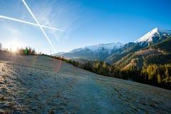 Paesaggio slovacco delle montagne di Belianske Tatry Immagine Stock