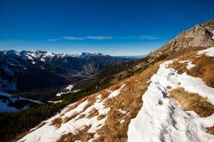 Paesaggio slovacco delle montagne di Belianske Tatry fotografia stock libera da diritti