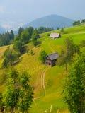 Paesaggio sloveno tradizionale della montagna Fotografia Stock