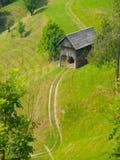 Paesaggio sloveno tradizionale della montagna Fotografie Stock Libere da Diritti