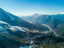 Paesaggio in Soci, il Caucaso della montagna Vista da aria Fotografie Stock Libere da Diritti