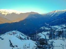 Paesaggio in Soci, il Caucaso della montagna Vista da aria Fotografia Stock Libera da Diritti