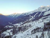 Paesaggio in Soci, il Caucaso della montagna Vista da aria Fotografia Stock