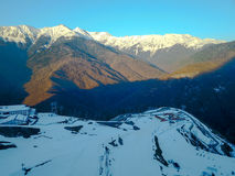 Paesaggio in Soci, il Caucaso della montagna Vista da aria Immagine Stock Libera da Diritti