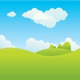 Paesaggio soleggiato Immagine Stock