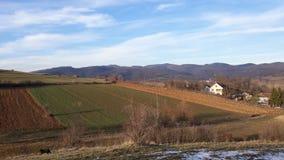 Paesaggio soleggiato in villaggio Fotografia Stock Libera da Diritti